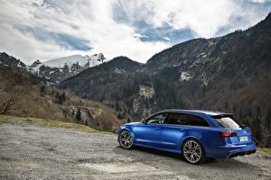 Фотографии Горы Ауди Синяя Универсал RS 6 авто