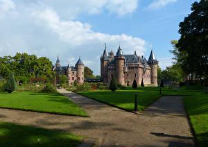 Фотографии Нидерланды Замки Газон De Haar Castle Города