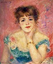 Фотография Картина Смотрит Pierre Auguste Renoir, Portrait of the Actress Jeanne Samary