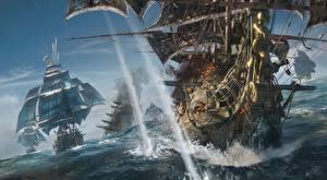 Обои Пираты Корабли Парусные Skull and Bones