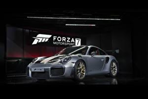 Обои Порше Forza Motorsport 7 Серый 911 GT2 RS Игры