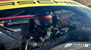 Картинки Порше Forza Motorsport 7 Гонки Шлем Игры