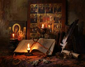 Фотография Религия Свечи Книга
