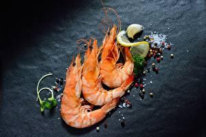 Картинка Креветки Специи Три Еда