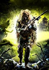 Фотография Sniper Снайперская винтовка Снайперы Маскировка Ghost Warrior 2