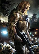 Фото Sniper Снайперская винтовка Снайперы Маскировка Ghost Warrior 2