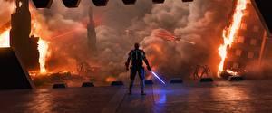 Обои для рабочего стола Звездные войны Эпизод 2 - Атака клонов Воины Мечи кино