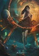Фото Звезды Планеты Сверхъестественные существа Andromeda Девушки