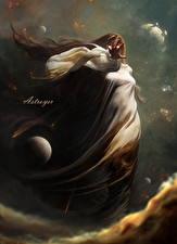 Фотографии Звезды Планеты Сверхъестественные существа Astroyer Фантастика Девушки