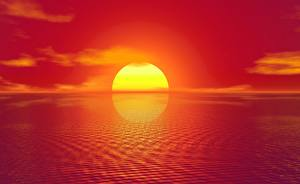 Фото Рассветы и закаты Солнце 3D Графика