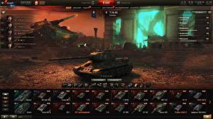 Картинки Танки Т-34 World of Tanks Русские Игры