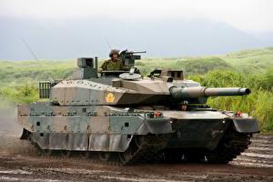 Фото Танки Японские Type 10 Hitomaru, 120-мм Rheinmetall Rh-120