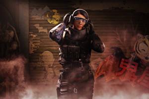 Картинка Tom Clancy's Rainbow Six: Siege Осада Очки Наушники Operation Blood Orchid, Ying Operator Девушки