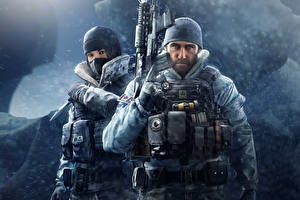 Фотографии Tom Clancy's Rainbow Six: Siege Осада Солдаты Автоматы 2 Operation Black Ice Игры