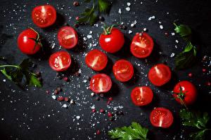 Картинки Томаты Соль Пища