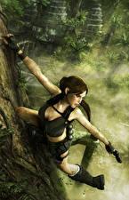 Картинки Tomb Raider Underworld Лара Крофт Города