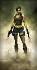 Обои Tomb Raider Underworld Пистолеты Лара Крофт Игры Девушки 3D_Графика