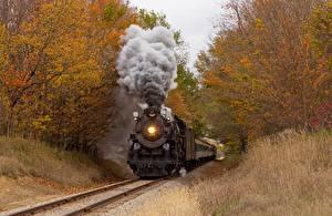 Картинки Поезда Дым