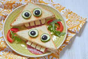 Фото Овощи Сэндвич Тарелка 2 Дизайн