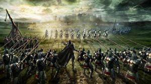 Фотография Воители Рыцарь Bladestorm Доспехе С копьем компьютерная игра Фэнтези