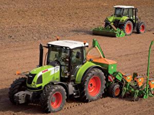 Фото Сельскохозяйственная техника Поля Трактор 2 Claas Arion 610 Claas Arion 510