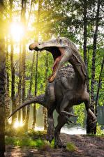 Фото Древние животные Динозавры Suchomimus
