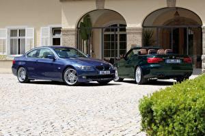 Картинка BMW Двое Металлик Alpina B3 S Bi-Turbo Cabrio, Alpina B3 S Bi-Turbo Coupe Автомобили