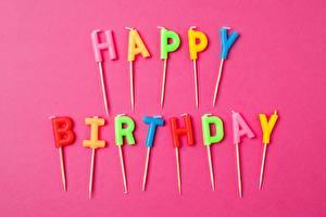 Фото День рождения Праздники Инглийские Слово - Надпись