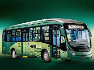 Картинки Автобус 2012-17 Marcopolo Viale BRT Hibribus Автомобили