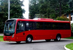 Картинка Автобус Красный 2016-17 Neobus Mega Plus Agrale MA 17.0