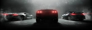 Фотографии Шевроле Ниссан Ламборгини The Crew Вид Игры Автомобили