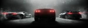 Фотографии Chevrolet Ниссан Ламборгини The Crew Вид сзади Игры Автомобили