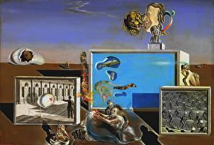 Обои Картина Оригинальные Salvador Dali Живопись Illumined Pleasures