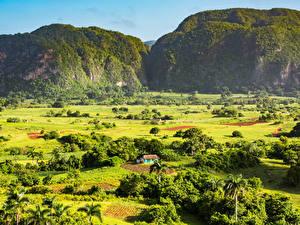 Фотография Куба Горы Поля Луга