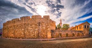 Фотографии Республика Кипр Замки Небо Larnaka Medieval Castle Города