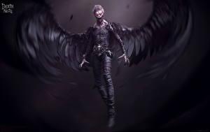 Фотография Death Note Ангелы Крылья Страшная