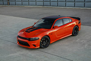 Обои Додж Красная Металлик 2017 Charger Daytona 392 авто