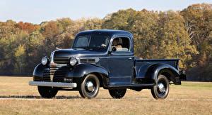 Картинки Додж Винтаж Синий Металлик Пикап кузов 1940 Model VC Pickup машины