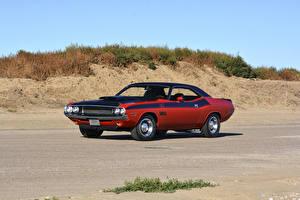 Картинка Dodge Винтаж Тюнинг Красные 1970 Challenger T-A 340 Six Pack авто