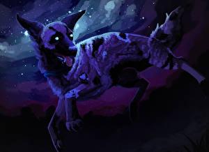 Фото Собаки Рисованные Ночные