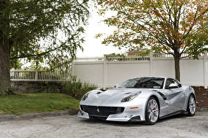 Обои Феррари Серый Металлик 2016-17 F12tdf Машины