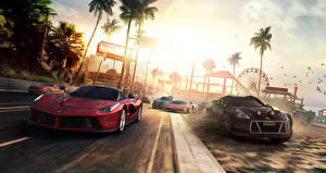Фотография Ferrari Nissan The Crew Красный Ралли Автомобили