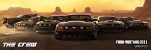 Фото Форд The Crew Серый Спереди Mustang Игры Автомобили