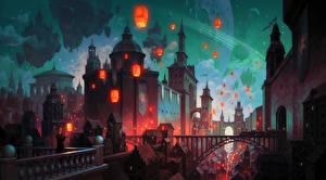 Фотография Дома Фантастический мир Фэнтези Города