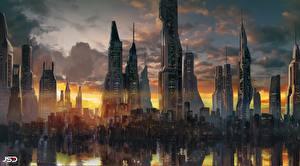 Обои Здания Небоскребы Zion (Before the Fall), Jude Smith Фантастика