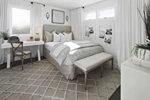 Обои Интерьер Дизайн Спальня Кровать Ковер
