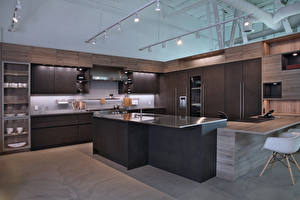 Фотография Интерьер Дизайн Кухня Потолок Стол