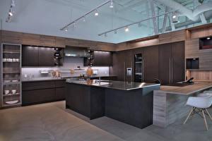 Фотография Интерьер Дизайна Кухни Потолок Стола