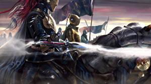 Картинки Рыцарь Иллюстрации к книгам Доспехи Brandon Sanderson, The Way of Kings Фантастика