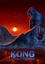 Обои Конг: Остров черепа Обезьяны Рассветы и закаты Фан АРТ
